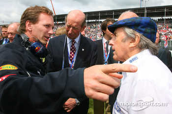 Christian Horner, Red Bull Racing, Sporting Director and Sir Jackie Stewart, RBS Representitive and Ex F1 World Champion
