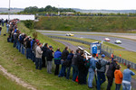 Fans watch the race