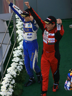 GT300 podium: class winners Hiroki Katoh and Hiroki Yoshimoto