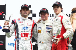 Andy Soucek, Tobias Hegewald and Milos Pavlovic on the podium