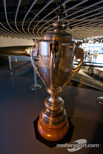 Silver arrows: Argentine Grand Prix trophy won by Juan Manuel Fangio with Mercedes-Benz in 1955