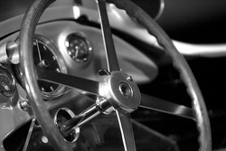 Silver arrows: 1955 Mercedes-Benz W 196 R 2.5-liter Formula One racing car steering wheel detail