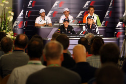 FIA press conference: Nick Heidfeld, BMW Sauber F1 Team, Sebastian Vettel, Red Bull Racing, Timo Glock, Toyota F1 Team, Nico Rosberg, Williams F1 Team, Adrian Sutil, Force India F1 Team