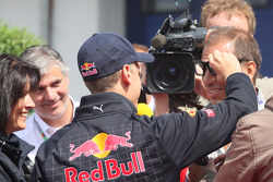Sebastian Vettel, Red Bull Racing and Kai Ebel, RTL Television