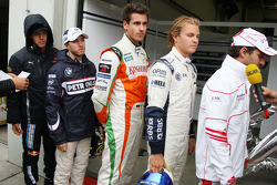 Sebastian Vettel, Red Bull Racing, Nick Heidfeld, BMW Sauber F1 Team, Adrian Sutil, Force India F1 Team, Nico Rosberg, Williams F1 Team, Timo Glock, Toyota F1 Team