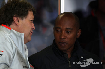 Norbert Haug, Mercedes, Motorsport chief and Anthony Hamilton, Father of Lewis Hamilton