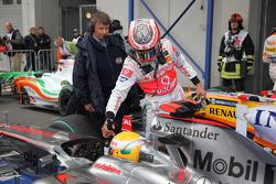 Lewis Hamilton, McLaren Mercedes and Heikki Kovalainen, McLaren Mercedes
