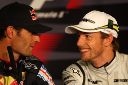 FIA press conference: Mark Webber, Red Bull Racing, Jenson Button, Brawn GP