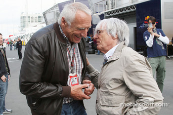 Dietrich Mateschitz, Owner of Red Bull, Bernie Ecclestone