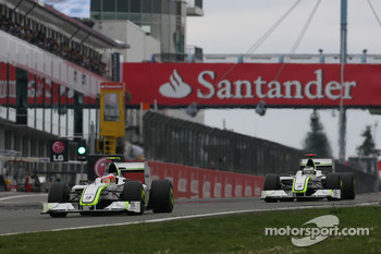 Rubens Barrichello, Brawn GP and Jenson Button, Brawn GP