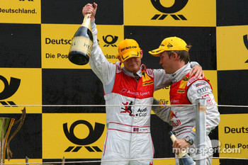 Podium, Oliver Jarvis, Audi Sport Team Phoenix and Mattias Ekström, Audi Sport Team Abt