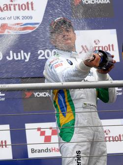 Augusto Farfus sprays champagne