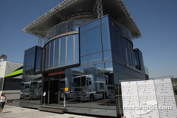 Force India motorhome