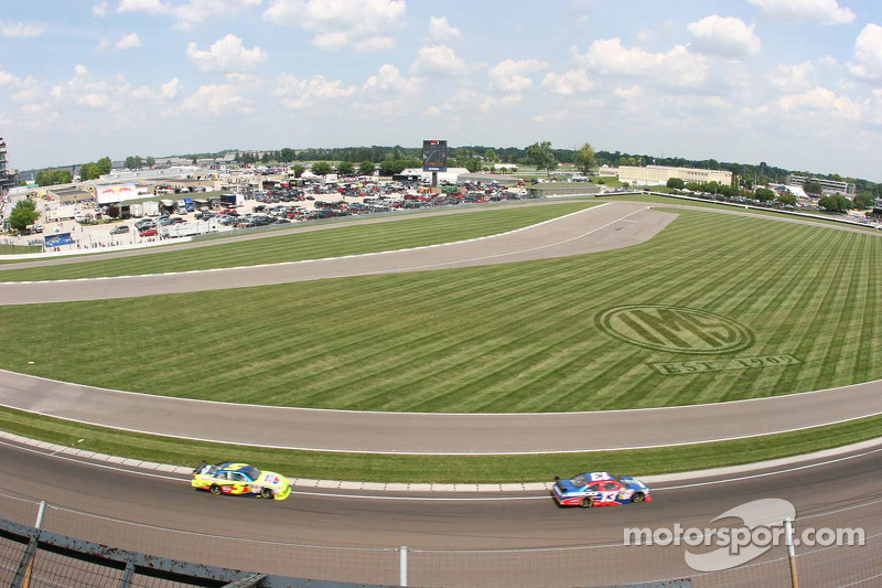 The MotoGP track inside corner 1 at the Indianapolis Motor Speedway