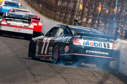 Sam Hornish Jr., Penske Racing Dodge hits the wall