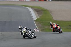 Randy De Puniet, LCR Honda MotoGP leads Dani Pedrosa, Repsol Honda Team