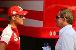 Michael Schumacher, Test Driver, Scuderia Ferrari Martin Brundle
