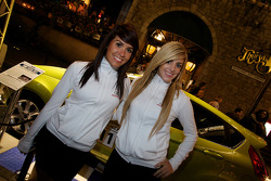 Crescent Street Ford Racing Festival: two lovely promo girls