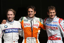 Nick Heidfeld, BMW Sauber F1 Team, Giancarlo Fisichella, Force India F1 Team, Jarno Trulli, Toyota F1 Team