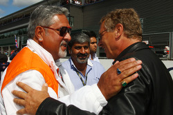 Vijay Mallya Force India F1 Team Owner and Hermann Tilke