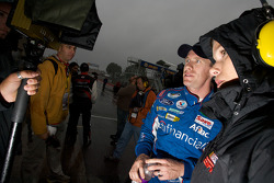 Carl Edwards with ESPN's Jamie Little