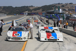 Porsche historic racing car parade