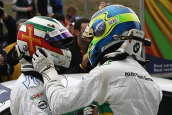 Andy Priaulx, BMW Team UK, BMW 320si and Augusto Farfus, BMW Team Germany, BMW 320si