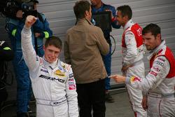 Race Winner Paul di Resta, Team HWA AMG Mercedes AMG Mercedes C-Klasse with Martin Tomczyk, Audi Sport Team Abt Audi A4 DTM