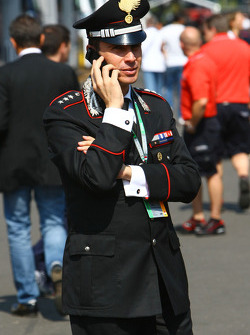 Carabinieri Police in the paddock