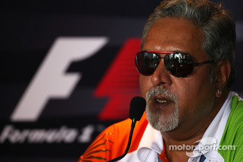 FIA press conference: Vijay Mallya Force India F1 Team Owner