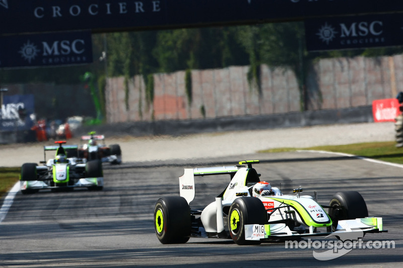 Rubens Barrichello, BrawnGP & Jenson Button, BrawnGP