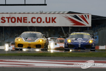 #92 JMW Motorsport Ferrari F430 GT: Rob Bell, Gianmaria Bruni, #99 JMB Racing Ferrari F430 GT: John Hartshorne, Peter Kutemann