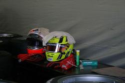 Walter Grubmuller and Renger van der Zande's helmets