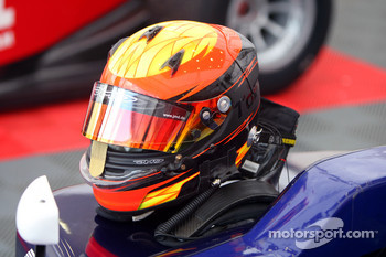 The helmet of Tobias Hegewald