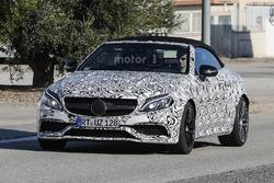 Spyshots of the 2017  Mercedes-AMG C63 Cabriolet
