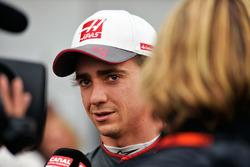 Esteban Gutierrez, Haas F1 Team with the media