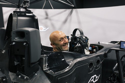 Fabien Barthez in the simulator