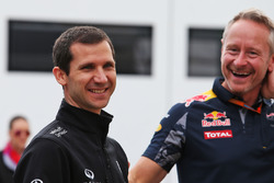 (L to R): Remi Taffin, Renault Sport F1 Engine Technical Director with Jonathan Wheatley, Red Bull Racing Team Manager