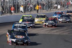 Kyle Busch leads the pack