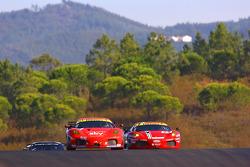#56 CRS Racing Ferrari F430: Andrew Kirkaldy, Rob Bell, #51 AF Corse Ferrari F430: Alvaro Barba Lopez, Niki Cadei