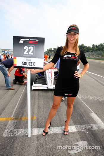 Grid girl for Andy Soucek