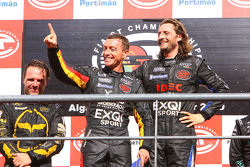 GT1 podium: class and overall winners Bert Longin and James Ruffier