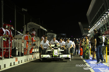 The car of Rubens Barrichello, BrawnGP