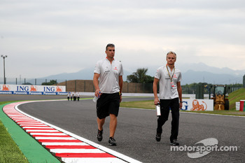 Heikki Kovalainen, McLaren Mercedes walks the track