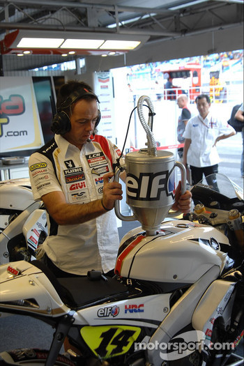 LCR Honda MotoGP team member at work