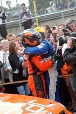 Jason Plato congratulates champion Colin Turkington