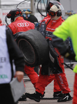 Used tires of Mattias Ekström, Audi Sport Team Abt Audi A4 DTM