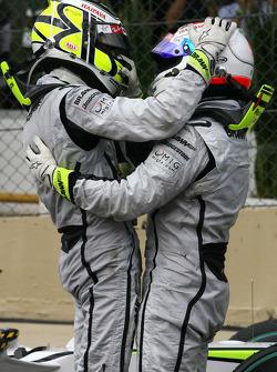 Jenson Button, Brawn GP enRubens Barrichello, Brawn GP