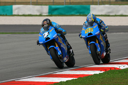 Chris Vermeulen, Rizla Suzuki MotoGP and Loris Capirossi, Rizla Suzuki MotoGP