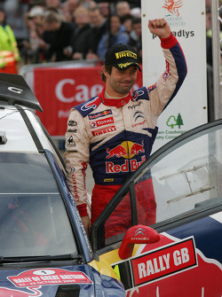 Podium: winner and 2009 WRC champion Sébastien Loeb